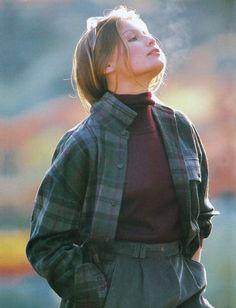 """80s-90s-supermodels: """" """"Passione"""", Elle Italia, November 1996 Model : Laetitia Casta """""""