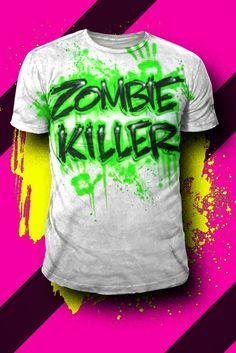 2c290206588a79 Zombie Killer Airbrush T Shirt 2015. Airbrush DesignsAirbrush ...