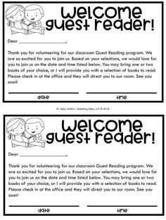 Setting Up a Guest Reader Program in Your Classroom I am a BIG proponent of having guest readers in our classroom for several reasons. First of all, it's one way to bridge the gap between home and school. Parents, grandparents, and even older siblings wer Letter To Parents, Parents As Teachers, Parent Letters, Parent Volunteer Letter, Classroom Volunteer, Beginning Of The School Year, Back To School, Starting School, School Stuff