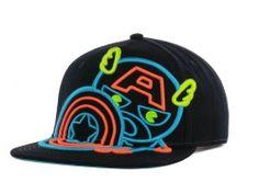 Marvel Captain America Neon Shield Snapback Cap Hats