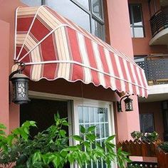 I need to get an awning for my pool. It gets so hot on the patio and it will be good for some shade. I think I will get some nice furniture as well to lay on while out there. Homemade Headboards, Diy Headboards, Headboard Ideas, Deck Awnings, Window Awnings, Awning Over Door, Canvas Awnings, Fabric Awning, Reclaimed Doors