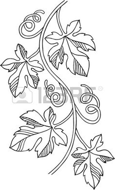 Grape Design-Element – broderie à la main Folk Embroidery, Hand Embroidery Patterns, Embroidery Designs, Flower Embroidery, Vine Drawing, Leaf Drawing, Parchment Craft, Motif Floral, Bottle Crafts