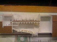 section model auditorium Theatres, Concert Hall, Bathroom Medicine Cabinet, Opera, Houses, Models, Drawing, Auditorium, Homes