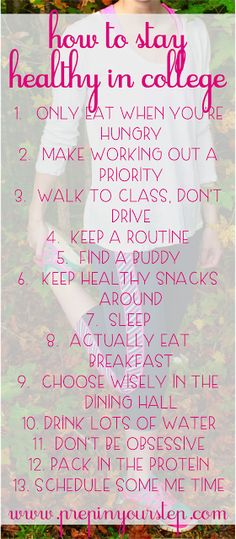 How To Stay Healthy In College - Easy tips to fight off the freshman 15 and stay energized around campus