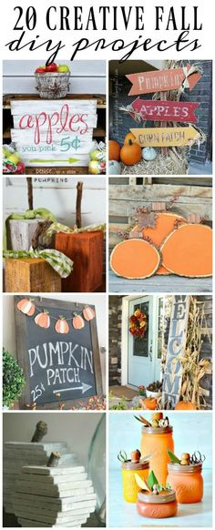 20 Must Try Fall DIY Projects. littlehouseoffour.com