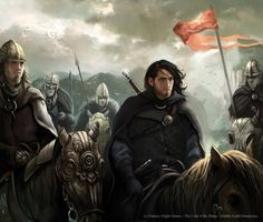 Aragorn and the Rohirrim by Magali Villeneuve