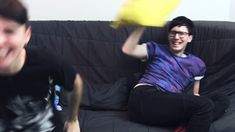 Dan's being all weird and cute but u see phil dyeing of laughter in the back! This is such happiness right here