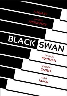Black Swan ~ Minimal Movie Poster by Swiss Style Design The Black Swan, Black Swan 2010, Darren Aronofsky, Swiss Style, Minimal Movie Posters, Alternative Movie Posters, Minimalist Poster, Diana, Fashion Design
