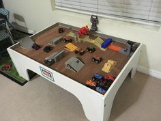 Monster Jam Toys, Monster Truck Kids, Monster Truck Birthday, Monster Truck Bedroom, Kids Play Spaces, Tech Deck, Deck Party, Kids Bedroom Designs, Train Table