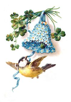 vintage bird and bell