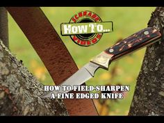 How to Keep Your Knife Razor Sharp in The Field.  wish me luck, i need it