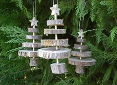wood Christmas trees: