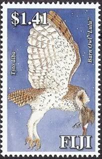 Fiji - owl postage stamp