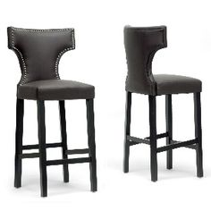 Baxton Studio Set of 2 Hafley Modern Barstools in Brown was %22 now $299.99