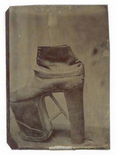 19th Century Tintype of an Orthopedic Shoe