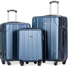 Looking for Merax 3 Piece P.T Luggage Set Eco-friendly Light Weight Spinner Suitcase(Blue) ? Check out our picks for the Merax 3 Piece P.T Luggage Set Eco-friendly Light Weight Spinner Suitcase(Blue) from the popular stores - all in one. Suitcase Set, Spinner Suitcase, Carry On Suitcase, Carry On Luggage, Luggage Sets, Travel Luggage, Cute Luggage, Best Luggage, Crossbody Messenger Bag