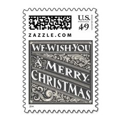<br>Ornate chalkboard style Christmas holiday custom postage with elegant retro vintage decorative typography, and fancy deco art nouveau swirls. Contemporary, classic, modern and stylish way to send old fashion warm wishes for happy winter holiday celebrations with trendy rustic and elegant charm in black and white. </br>  <br> Fancy Christmas Chalkboard Collection  </br>