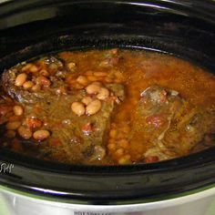 Crock Pot Mexican Roast & Pinto Beans Recipe Crock Pot Mexican Roast – Hearty crock pot dish made with beef chuck roast, dry pinto beans, Rotel tomatoes, onion, and Mexican seasonings. Slow Cooker Recipes, Mexican Food Recipes, Crockpot Recipes, Cooking Recipes, Slow Cooking, Mexican Beans Recipe, Mexican Pinto Beans, Dinner Recipes, Spanish Recipes