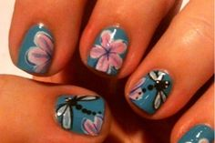 Love this nail art featured on Rite Aid's #NailExtravaganza site: Other - Dragonflies