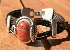 multi strap women brown leather bracelet with sterling by kekugi, $23.00