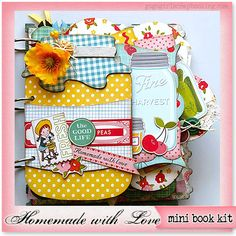 GoGoGirlScrapbooking.com Homemade with Love Mini Album Kit with complete instructions by GoGo Girl Scrapbooking featured at ScrapClubs.com