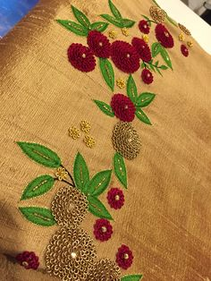 For deatails ping me 9895473878 Zardosi Embroidery, Embroidery On Kurtis, Hand Embroidery Dress, Kurti Embroidery Design, Embroidery Neck Designs, Hand Embroidery Videos, Embroidery Works, Couture Embroidery, Hand Embroidery Patterns
