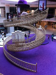 Is that a spiral staircase going nowhere just for show? Grand Staircase, Staircase Design, Staircase Metal, Amazing Architecture, Architecture Details, Beautiful Stairs, Take The Stairs, Stair Steps, Stairway To Heaven