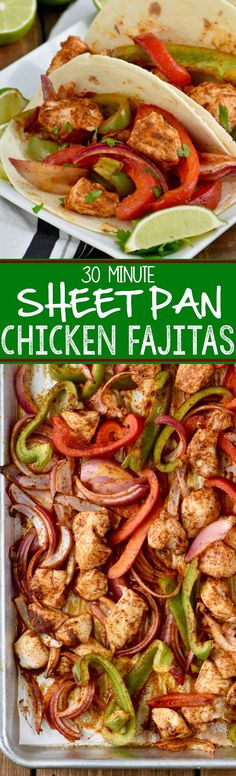 These Sheet Pan Fajitas are an amazing 30 minute meal that your family is going to love!