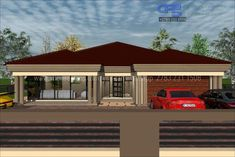 Free House Plans, Simple House Plans, House Layout Plans, Family House Plans, House Layouts, Single Storey House Plans, Double Storey House, Bungalow House Design, Small House Design
