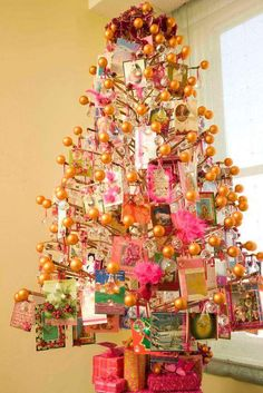 Only Cards And Balls Christmas Tree For A Different Office Decoration