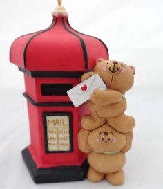 Hallmark Keepsake Christmas Ornament 1998 FRIENDS FOREVER Teddy Bear NO Box #Hallmark
