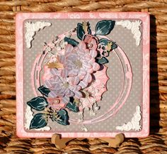 Gorgeous Card by the fabulous Denise van Deventer using FabScraps C109 A Moment In Time collection.