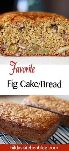 Fig Bread or Fig Cake Recipe Fig Bread, Banana Bread, Fig Preserves Recipe, Bread Recipes, Cake Recipes, Fig Dessert, Fig Pizza, Fig Cookies, Recipes