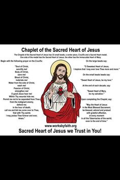Chaplet of the Sacred heart of Jesus....this is so incredibly beautiful <3 <3 <3