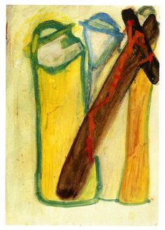 1962.11.37 Cesare Zavattini, Crocifissione con due preti