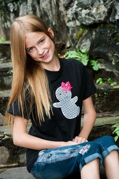 Girly Friendly Ghost Appliqué Halloween T by PinkPosieCouture, $25.00