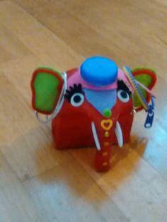 Diy elephant jewerly box from milk bottle