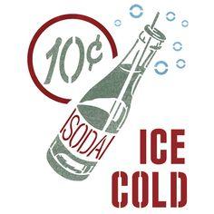Soda Drink Stencil Reusable Stencils for por JboutiqueStencils