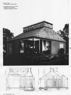 """Orinda House, also known as """"Moore House"""" is located in a valley behind San Francisco, was designed by architect Charles W. Moore for himself and built in 1962. In this project, Moore experimented with very simple means the possibility to recreate a project that could embody references to..."""