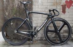 Cool looking Bianchi racing bike