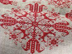 Romy.Austrian Spot Sampler, via Flickr. Folk Embroidery, Cross Stitch Embroidery, Cross Stitching, Vienna, Screen Printing, Napkins, House, Ideas, Punto De Cruz