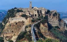 Italians Rally to Save 'Ghost Village' with a Population of 10: Not many people would dispute the jaw-dropping beauty of Italy's Civita di Bagnoregio village. The Medieval settlement 74 miles north of Rome has a population of just 10 people, who live amid twisting stone paths and centuries-old houses that are perched atop sheer cliffs overlooking deep ravines to the sea beyond.