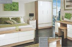 Montego Bay (White High Gloss & Oak) - Welcome Furniture