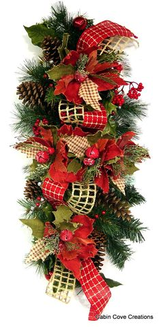 Christmas Country Swag Centerpiece CUSTOM by cabincovecreations