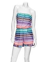 Missoni Mare EXCLUSIVE Zig Zag Knit Romper: Rainbow