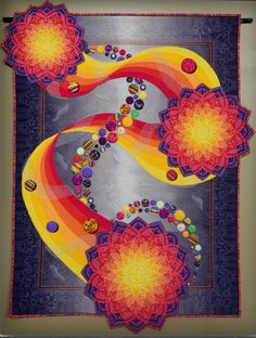 """When My Spirit is Set Free"" by Teri Cherne won 2nd Place Wallhanging Large at the MQX Quilt Festival, New England, 201"