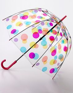 Fulton Transparent Dots Umbrella ... this is cute.