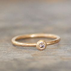 Diamond Pebble Ring by LilianGinebra