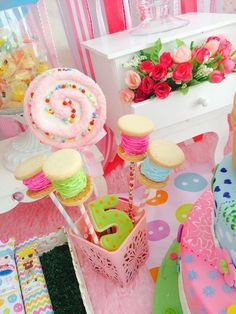Awesome treats at a LaLaloopsy birthday party! See more party ideas at CatchMyParty.com!