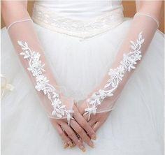 luvas de renda de noiva luvas luvas luvas projetado verão